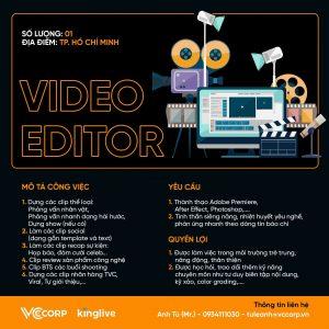 HCM – VCCORP – KINGPRO tuyển Video Editor