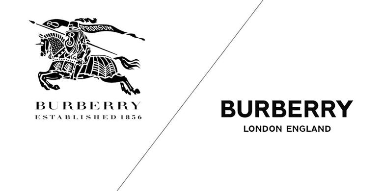 Logo Burberry do Saville sáng tạo