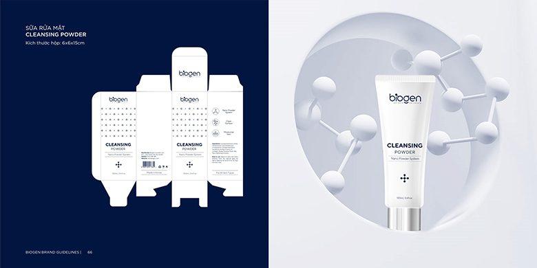 Bao bì minh họa sản phẩm thiết kế sữa rửa mặt