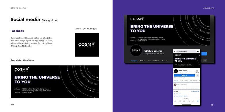 Hình ảnh thương hiệu rạp chiếu phim COSMO