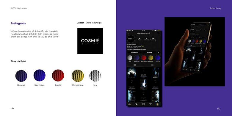 Quảng cáo trên các kênh Social Media, thương hiệu Cosmo của học viên Arena Multimedia