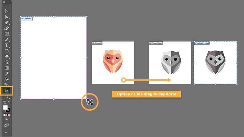 Công cụ artboard tool trong thiết kế đồ họa bằng adobe illustrator