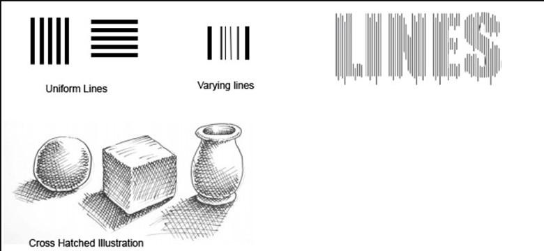 yếu tố cơ bản trong thiết kế đồ họa - đường nét