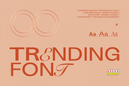 """Muốn """"đu"""" theo xu hướng? Các Designer không được bỏ qua 8 font siêu thời thượng này!"""