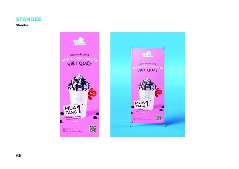 Sản phẩm poster Sữa chua nhà Mây của học viên khóa học thiết kế đồ họa quảng cáo