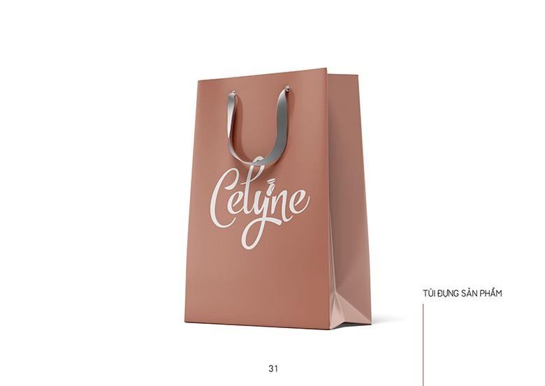 Túi đựng hàng với logo riêng sản phẩm của thiết kế đồ họa in ấn